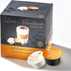 Real Coffee kaffekapsel Latte Macchiato, 16 stk.