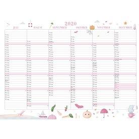 Mayland A3 Annies Vægkalender, 2x6 mdr., 2020
