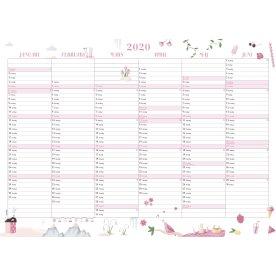 Mayland Annies Vægkalender, 2x6 mdr., 2020