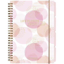 Mayland Life Planner A5, uge, pink