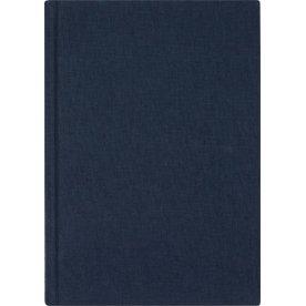 Mayland DotNotes Notesbog A4, tekstilpræg, blå