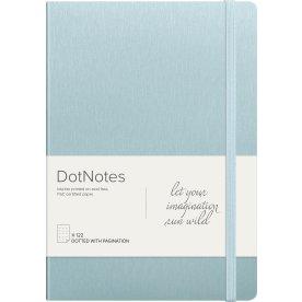 Mayland DotNotes Notesbog A5, tekstilpræg, lyseblå