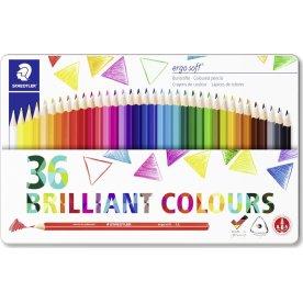 Staedtler Ergosoft farveblyanter, 36 farver