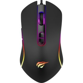 Havit MS852 RGB gaming mus, sort