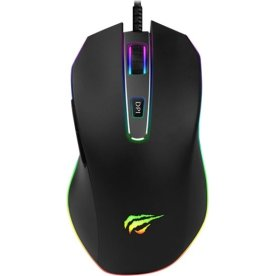 Havit MS837 RGB gaming mus, sort