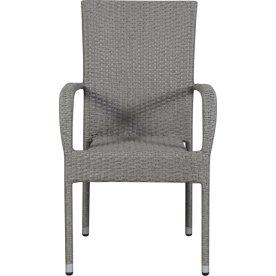 Astrid havestol, stabelbar, grå