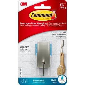 Command Badeværelseskrog, satineret nikkel, lille