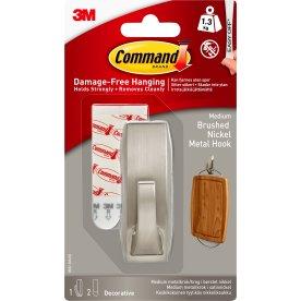 Command Metalkrog, børstet nikkel, medium