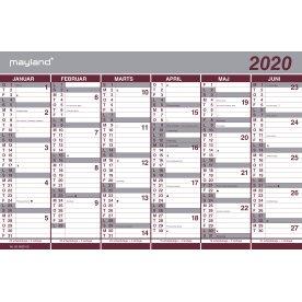 Mayland Dobbelt halvårskalender, 2020