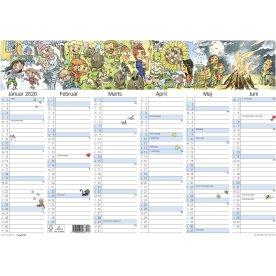 Mayland A3 kalender med illu. af Otto Dickmeiss