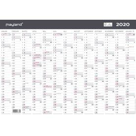 Mayland A3 kalender, 1x12 måneder, moderne
