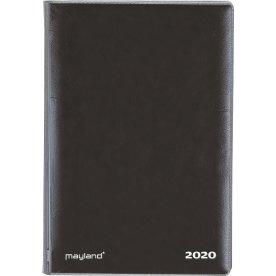 Mayland Mini Planner, uge, tværformat, sort vinyl