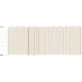 Mayland Projekt Planner 2020 kalender, brun