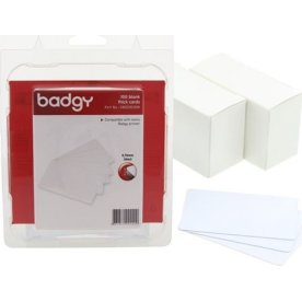 Evolis Badgy blanke hvide plastkort, 100 stk.