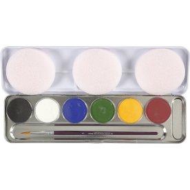 Eulenspiegel Ansigtsmaling Palette, 6 farver