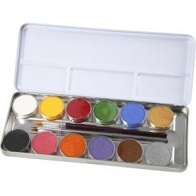 Eulenspiegel Ansigtsmaling Palette, 12 farver