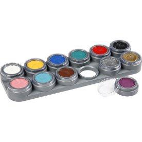 Grimas Ansigtmaling Sæt, 12x2,5 ml, ass. farver
