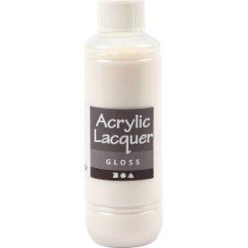 Akryllak, blank, 250 ml