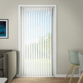 Debel Line Lamelgardin, 300x250 cm, Hvid