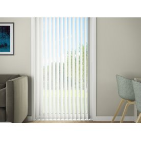 Debel D'Lux Lamelgardin, 240x250 cm, Hvid