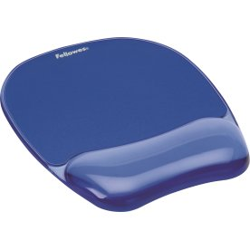 Fellowes gel musemåtte med håndledsstøtte, blå