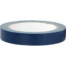 Lærredstape, 19 mm x 25 m, blå