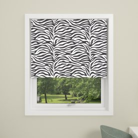 Debel Zebra Rullegardin, Mørkl, 100x175 cm, Multi