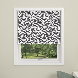 Debel Zebra Rullegardin, Mørkl, 140x175 cm, Multi