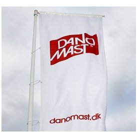 Dano Mast Flagstang m/ vippe, bannerarm, mont, 8 m