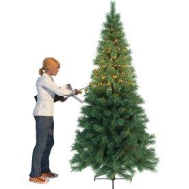 Lyskæde med 37 stk. julekugler, guld, 550 LED